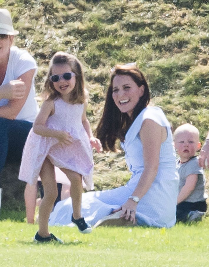 Princess Charlotte and Kate Middleton.