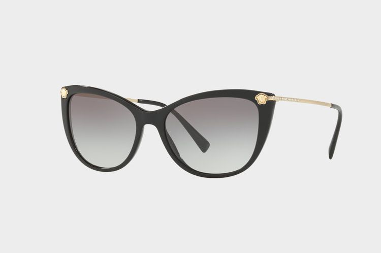 Versace BLACK MEDUSA STRASS SUNGLASSES