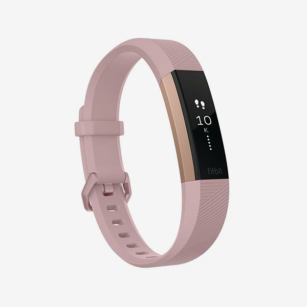 pink rose gold fitbit alta hr special edition - strategist fitness trackers on sale