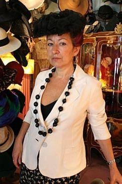 Ellen Christine in one of her own designs.