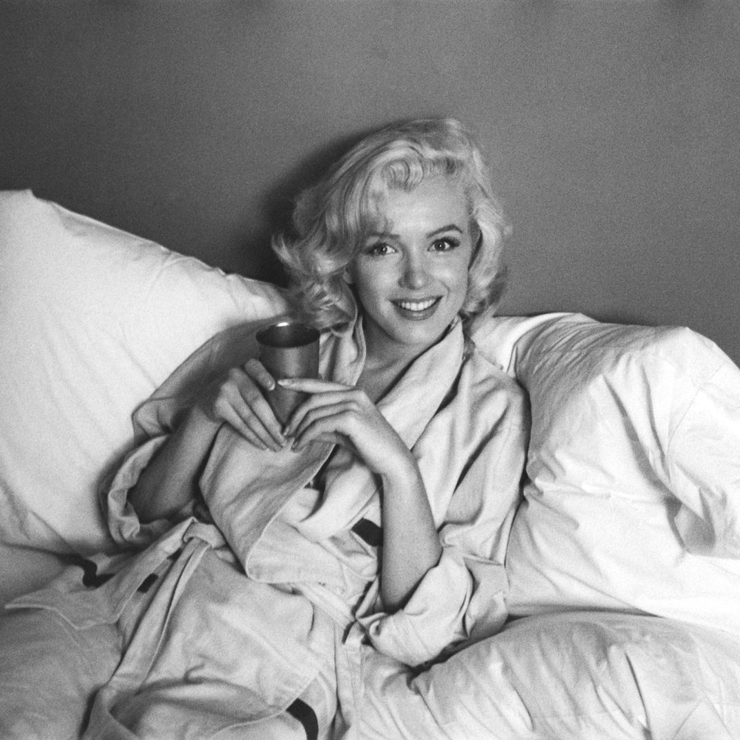 First Look: Marilyn Monroe in Bed and Sticking Her Tongue Out, in Marilyn