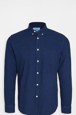 Portuguese Flannel Indigo Long-Sleeved Button-Down Shirt