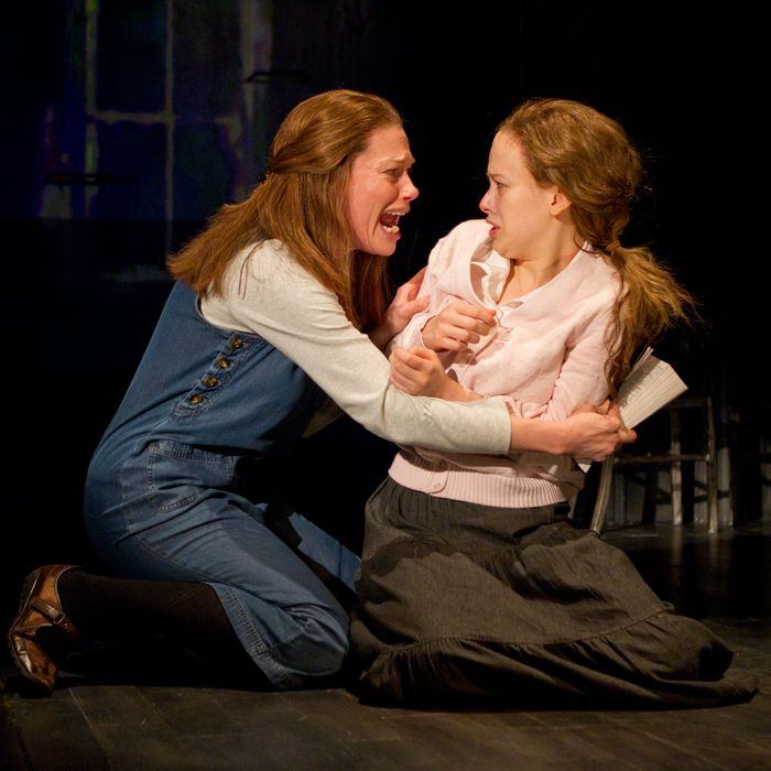 """Marin Mazzie and Molly Ranson in a scene from MCC Theater's """"Carrie"""""""