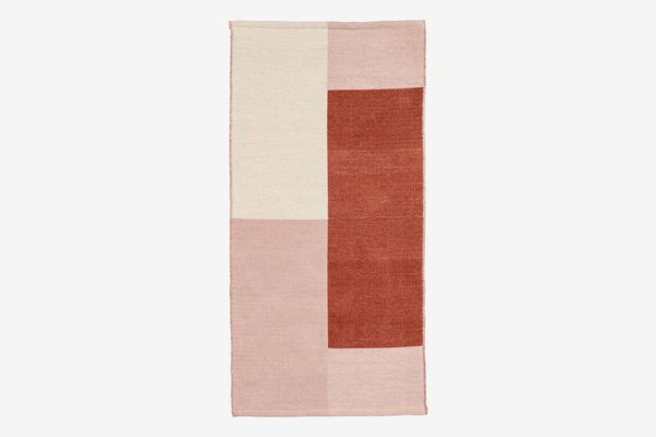 H&M Color-block Wool-blend Rug