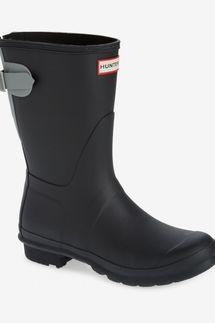 Hunter Original Short Back Adjustable Waterproof Rain Boot