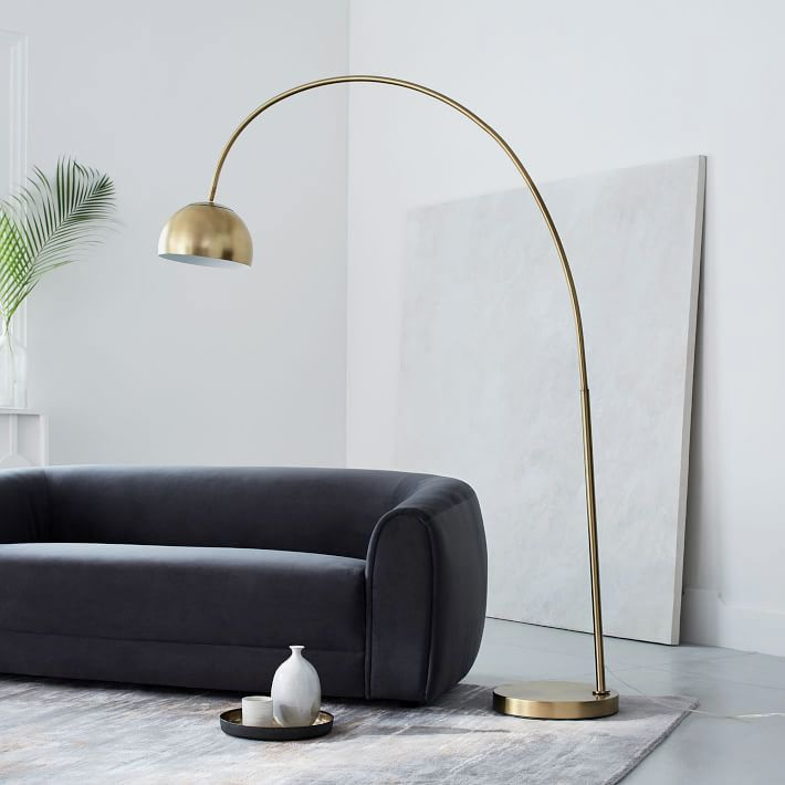 Overarching Metal Shade Floor Lamp