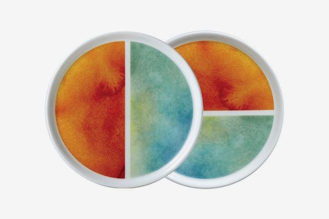 Twig Reve Orange Plates (Set of 2)