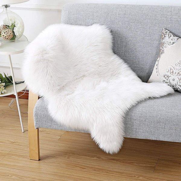 Faux Fur Sheepskin Rug 75 x 120 cm