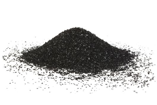 Activated carbon powder mound