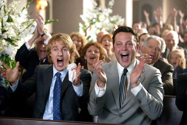 Owen Wilson and Vince Vaughn in <em>Wedding Crashers</em>.