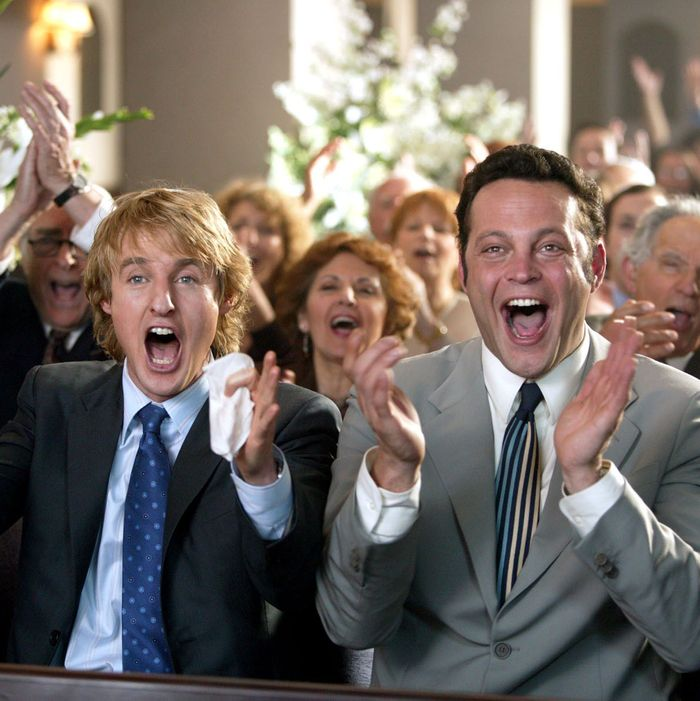Owen Wilson and Vince Vaughn in <em>Wedding Crashers</em>.