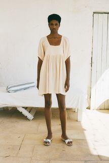 Anaak Brigitte Puff Sleeve Mini Dress