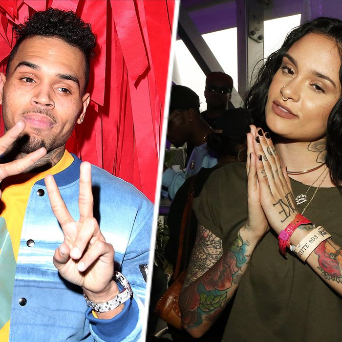 Chris Brown and Kehlani Parrish