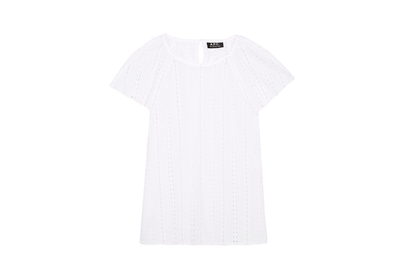A.P.C. Mina Broderie Anglaise Cotton Top