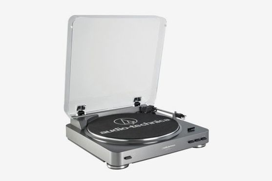 Audio-Technica AT-LP60 Fully Automatic Stereo Turntable System, Silver
