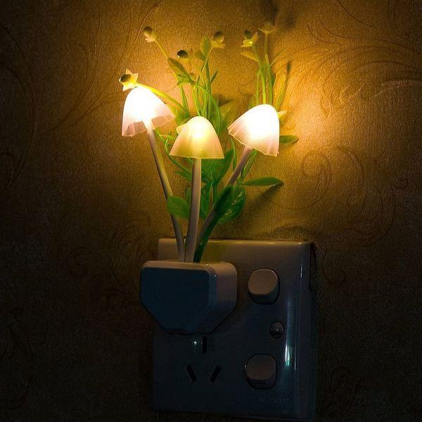 Mushroom Night Light with Dusk to Dawn Sensor, 2-Pack