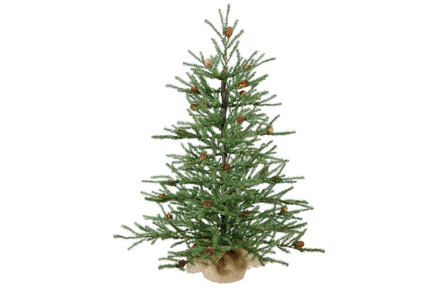 vickerman carmel pine tree with burlap base unlit 42 inch - Blue Spruce Artificial Christmas Tree