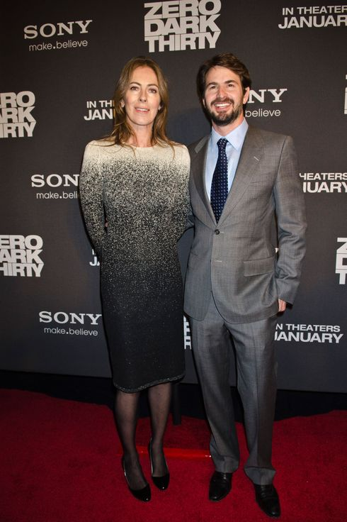 "Kathryn Bigelow and Mark Boal pose for photos at the Newseum during the ""Zero Dark Thirty"" Washington D.C. Premiere on January 8, 2013 in Washington, D.C."