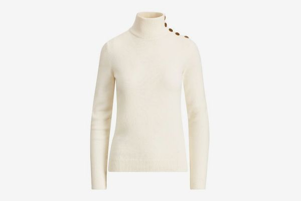 Ralph Lauren Collection Button Cashmere Turtleneck
