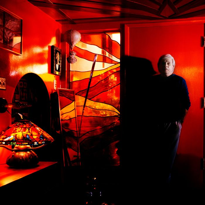 ca. 2004 --- Writer Harlan Ellison Standing in Entry --- Image by ? Mark Hanauer/Corbis Outline