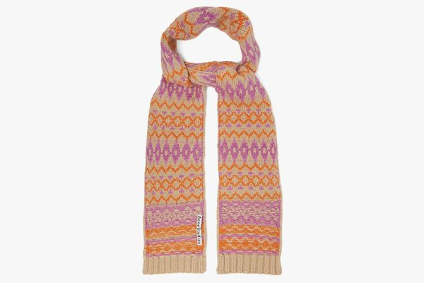 Acne Studios Fair Isle Wool Scarf