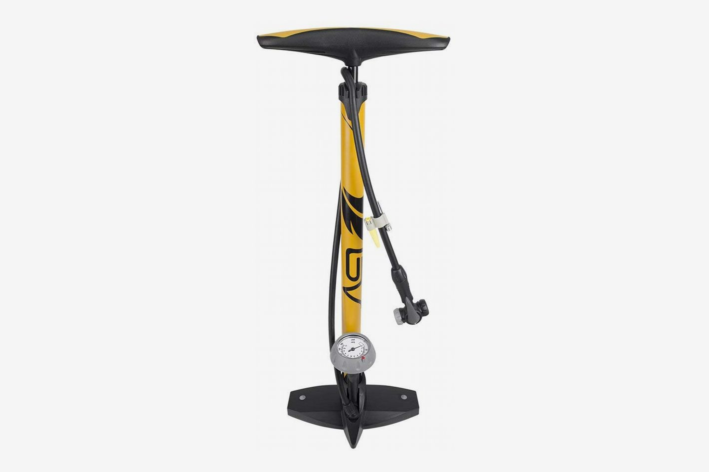 BV Bicycle Ergonomic Bike Floor Pump with Gauge & Smart Valve Head