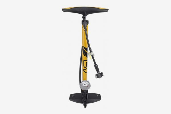 BV Bicycle Ergonomic Bike Floor Pump with Gauge & Smart Valve Head