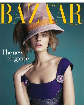 Constance Jablonksi for <em>Harper's Bazaar</em> Australia.