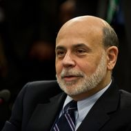 US Federal Reserve chairman Ben Bernanke waits for the start of the International Monetary and Financial Committee (IMFC) meeting during the 2013 World Bank/IMF Spring meetings in Washington on April 20, 2013.