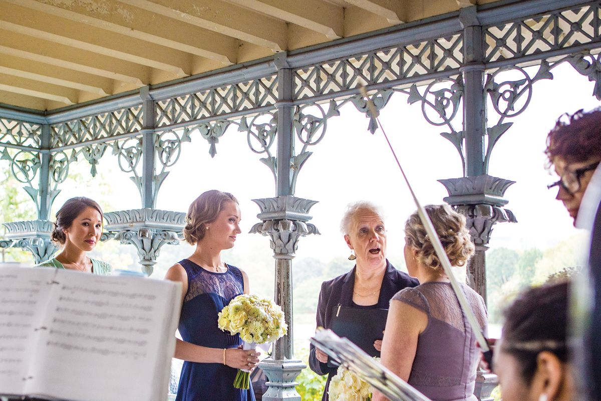 Nymag Real Weddings: The Ladies Pavilion And The River Café, October 1, 2014