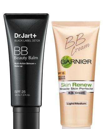 BB creams from Dr. Jart and Garnier