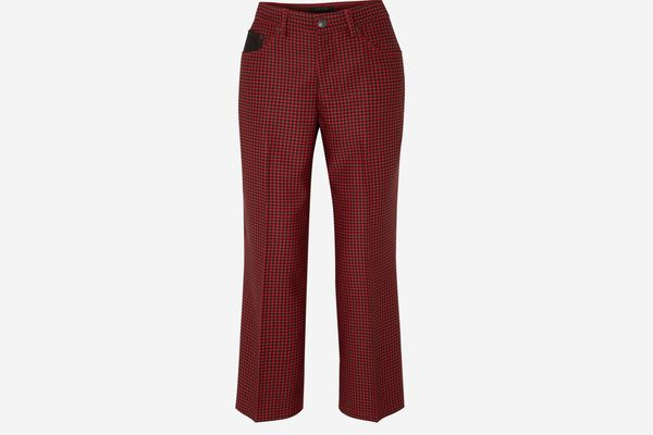Marc Jacobs Cropped Houndstooth Twill Straight-Leg Pants