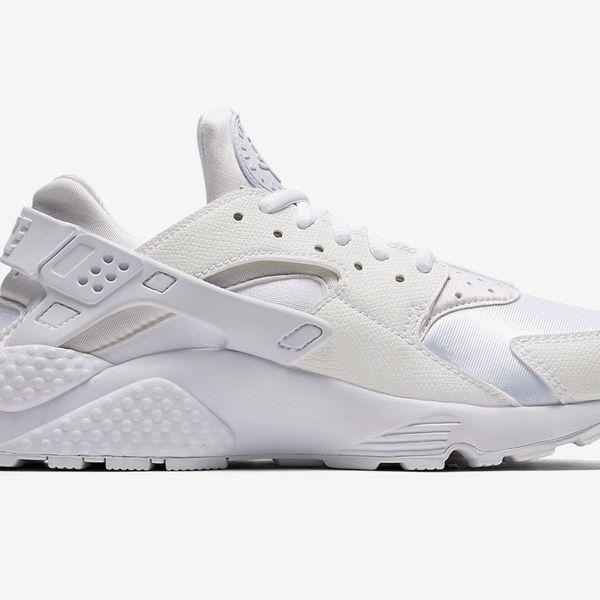 Nike Air Huarache Run  White Platform Sneakers