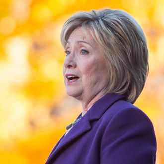 Hillary Clinton Files For The NH Primary And Campaigns In The State