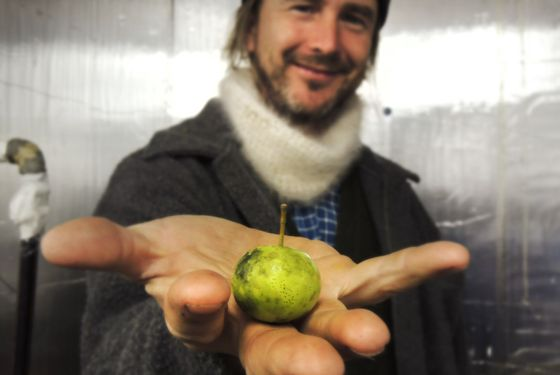 Andy Brennan shows off his main ingredient.