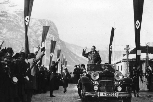 Adolf Hitler in the Bavarian countrytown of Garmisch -Partenkirchen, on the occasion of the Winter Olympic Games in 1936