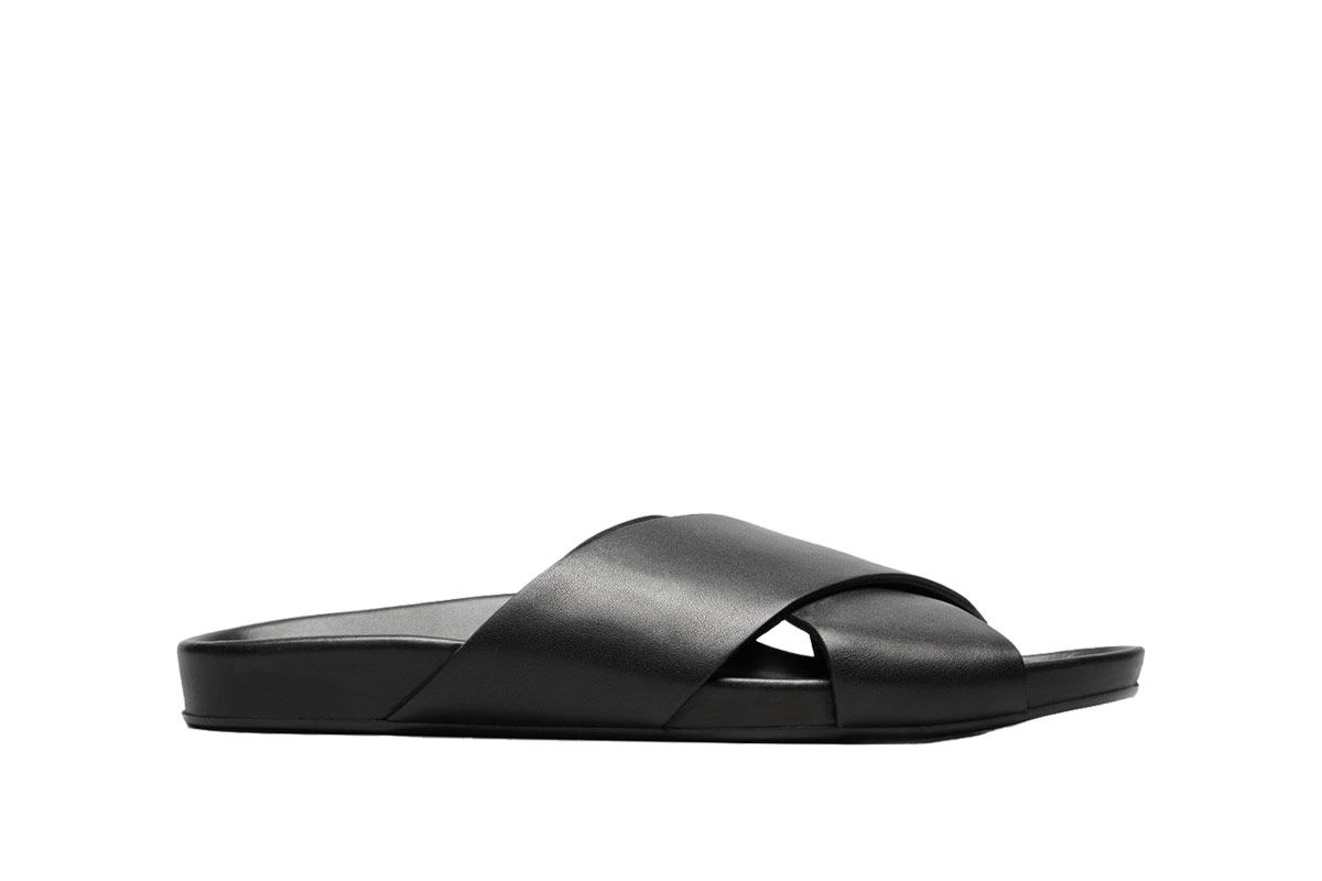 Everlane Black Form Cross Sandals