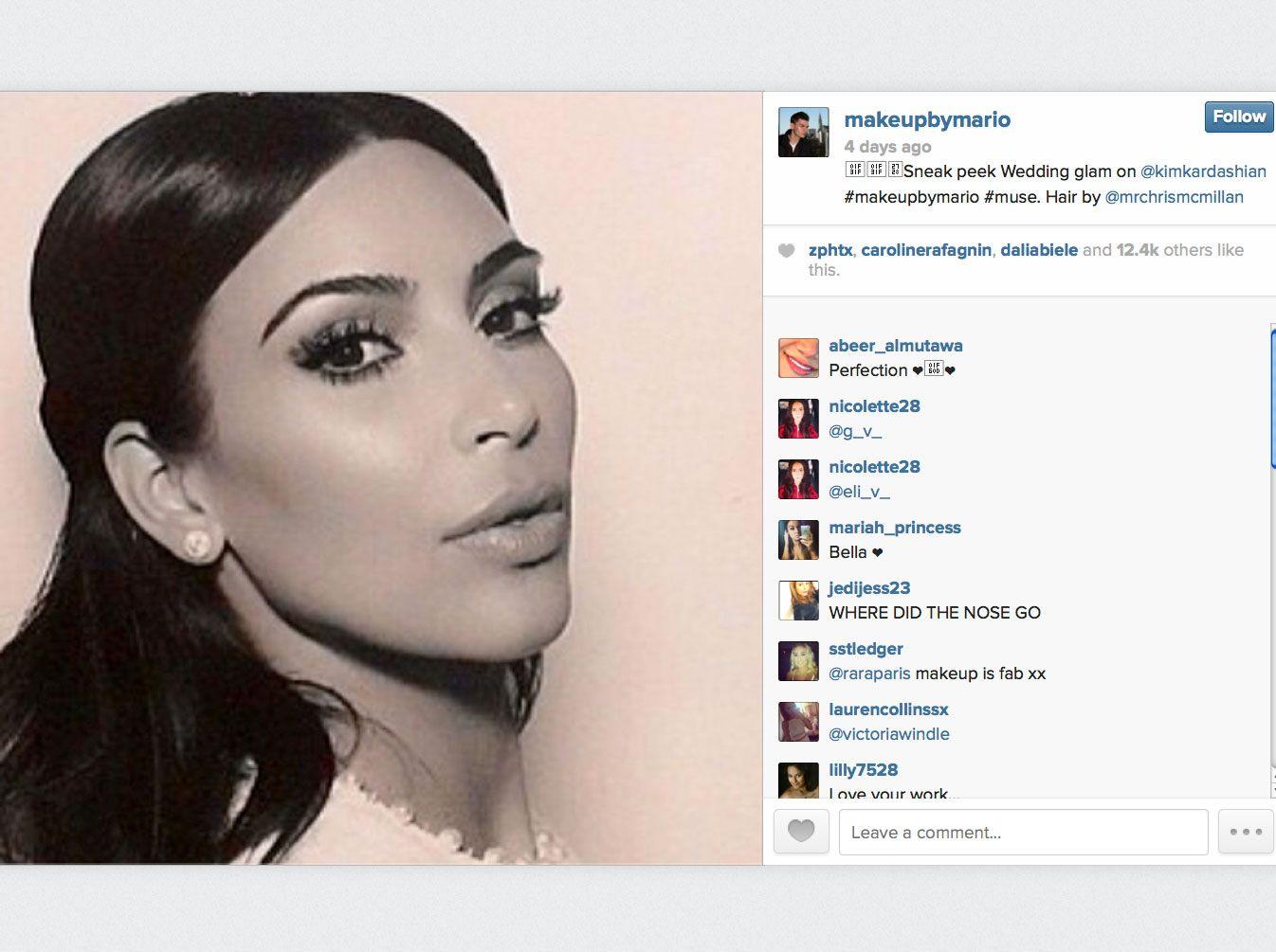 pics for gt kim kardashian wedding makeup 2014