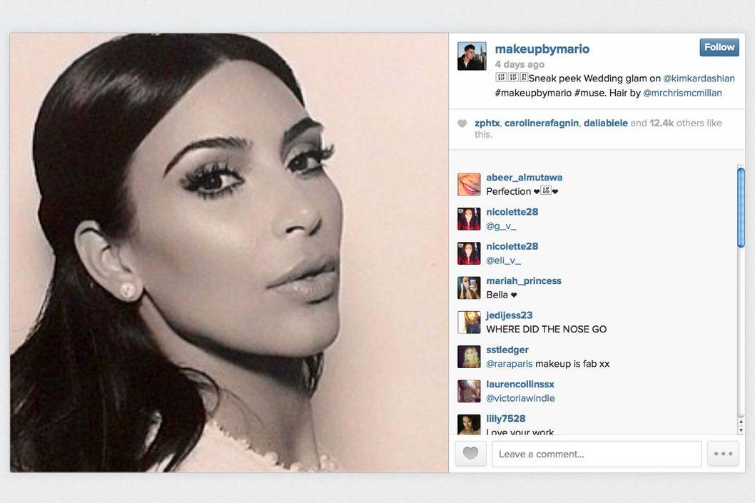 kim kardashian�s 180 wedding makeup the cut