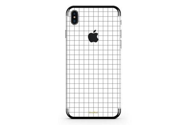 Uniqfind White Grid iPhone Skin