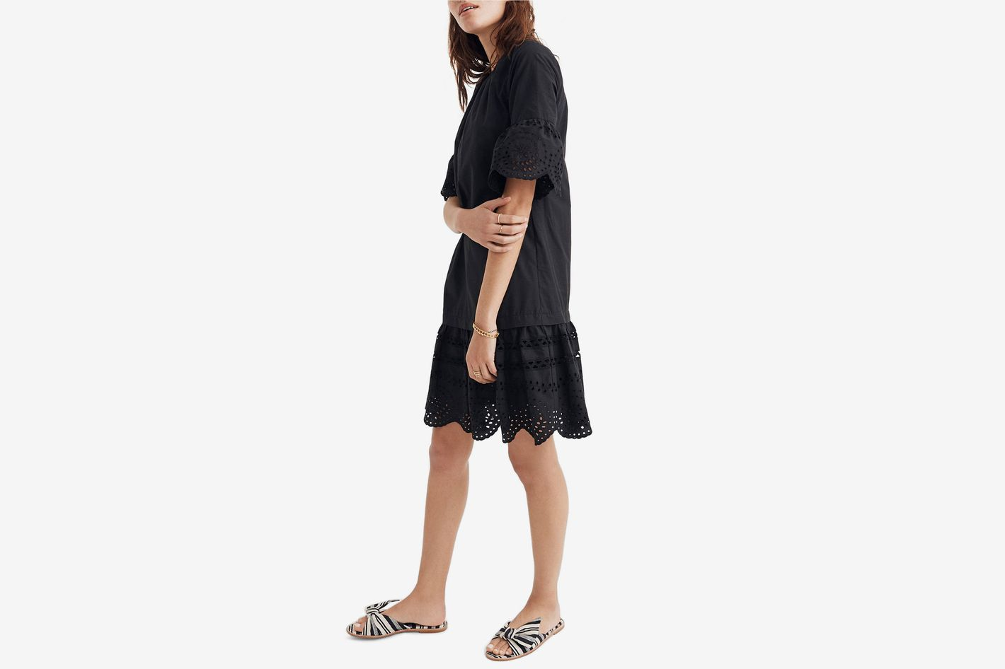 Madewell Eyelet Drop Waist Dress