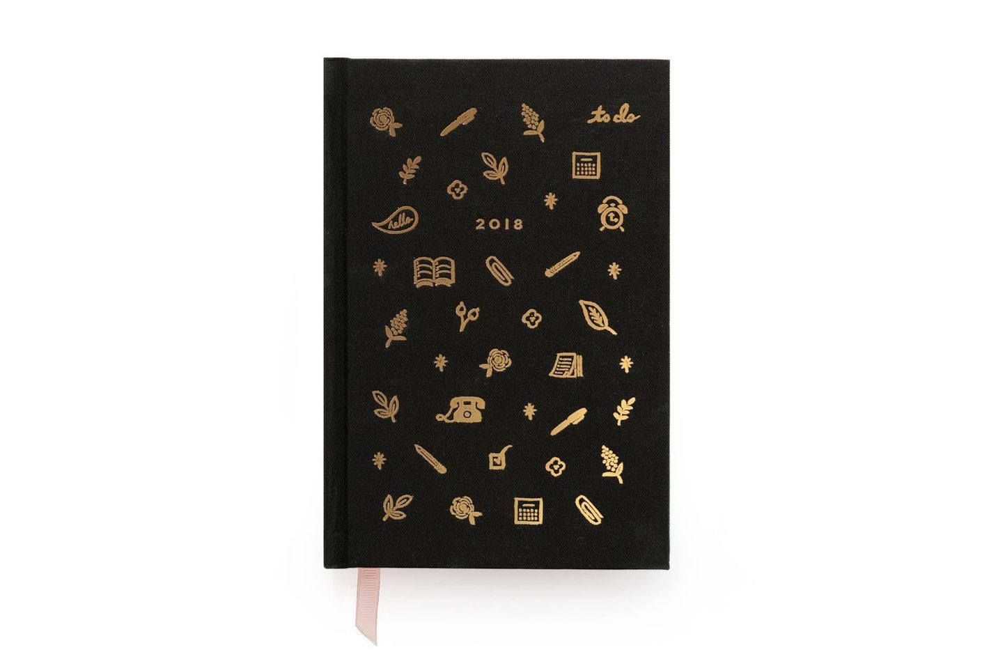 Rifle Paper Co 12 Month Hardcover Agenda 2018 Black Icon