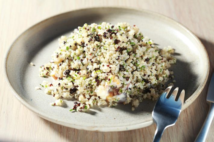 For all your healthy-ish salad needs: quinoa, banana, avocado, bacon, and cashew.