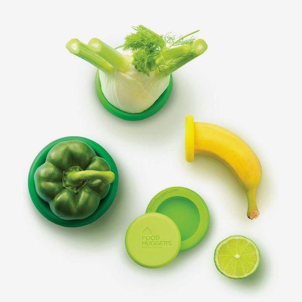 Food Huggers Reusable Silicone Food Savers, Set of 5