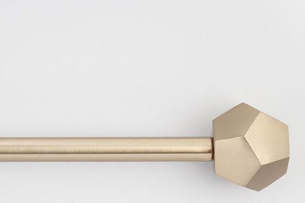 Prism-Finial Drapery Rod