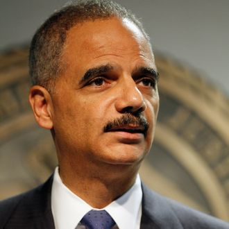 Attorney General Eric Holder addresses the media following a vote in the House of Representatives at the U.S. Attorney's Office Eastern District of Louisiana office on June 28, 2012 in New Orleans, Louisiana. The House has voted to hold Attourney General Holder in contempmt of Congress.