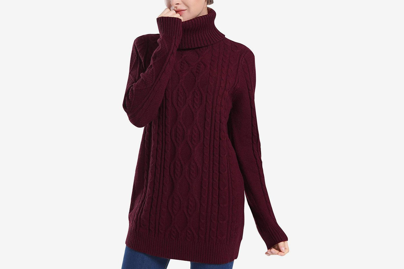 PrettyGuide Women's Long Sweater Turtleneck