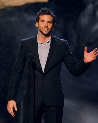 Actor Bradley Cooper speaks onstage during Spike TV's Guys Choice 2013 at Sony Pictures Studios on June 8, 2013 in Culver City, California.