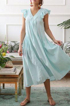 Catarina Dress in Blue Light