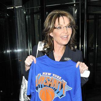 PALINSANITY - Sarah Palin poses with a